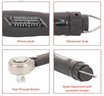 NORTORQUE® 2 RATCHET ADJUSTABLE - DUAL SCALE 130101+ Model 60, 3∕8